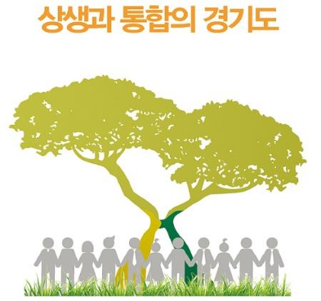 남경필 경기지사가 추진하는 연정 상징 포스터