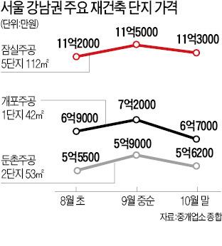 개포주공 등 강남 재건축 최고 5000만원 '뚝'