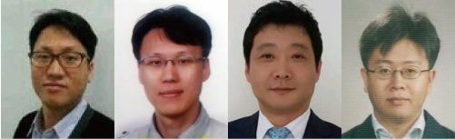 (왼쪽부터) 이민 상무, 김두일 상무, 박태호 상무, 문준 상무