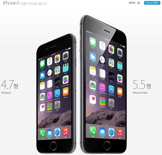 애플 아이폰6 및 아이폰6 플러스.