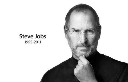 스티브 잡스 사망 당시 애플 애플 홈페이지에 게재된 추모 이미지.