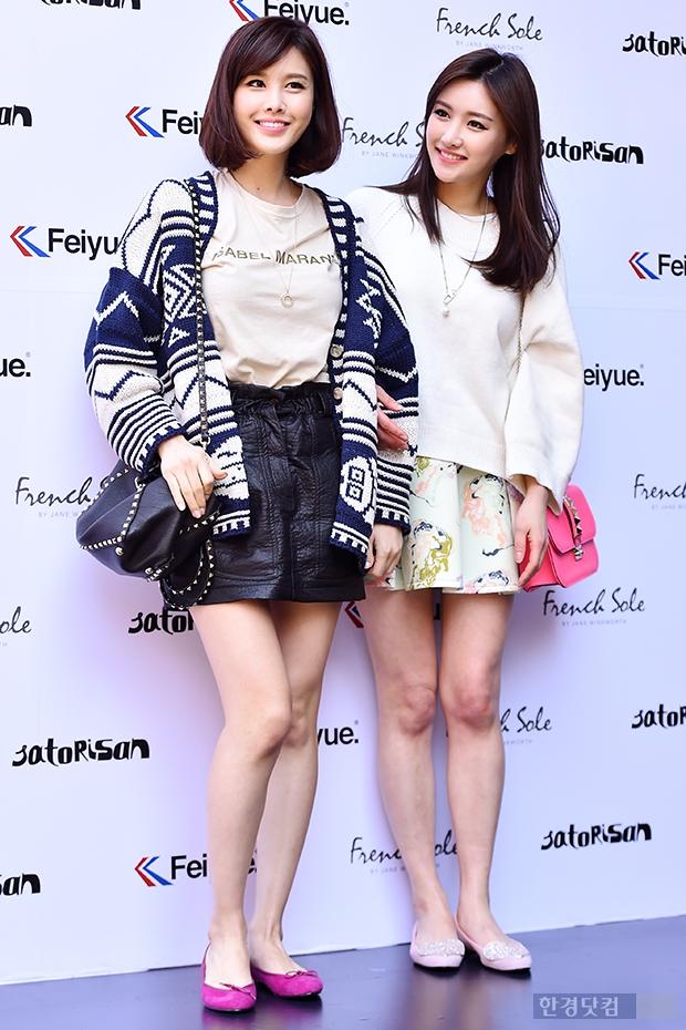[포토] 박은지-박은실, '초미니+맨다리…패션까지 똑같은 자매'