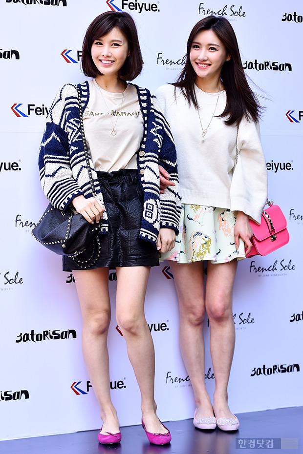 ▶박은지-박은실 자매, '초미니+맨다리 패션도 똑 닮았네~'