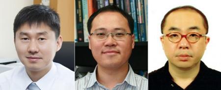 (왼쪽부터) 박경수 이융 정송 교수.