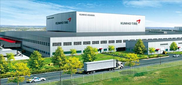 금호타이어가 미국 조지아주에 짓고 있는 연산 400만개 타이어 공장 조감도.