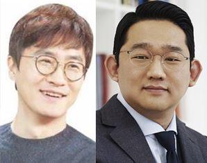 이상혁 옐로모바일 대표(좌), 김충범 500V 대표(우)