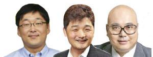 정주환 다음카카오 온디맨드팀 총괄(좌)/ 김범수 다음카카오 의장(가운데)/ 남궁훈 엔진 대표(우)
