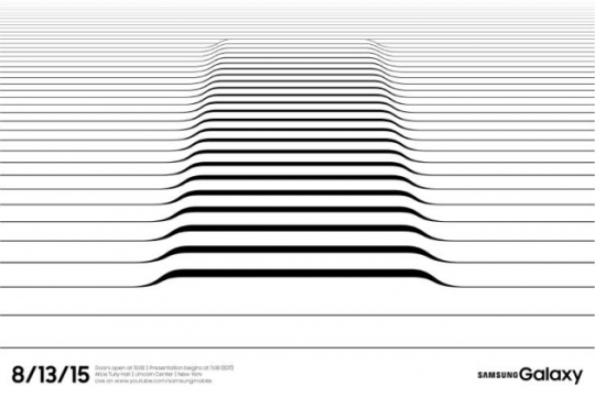 삼성전자가 오는 13일(현지시간) 뉴욕에서 여는 갤럭시노트5 공개행사 초대장.
