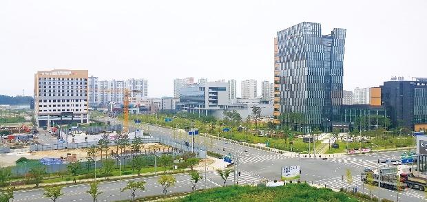 공공기관 입주가 한창인 충북혁신도시 전경.