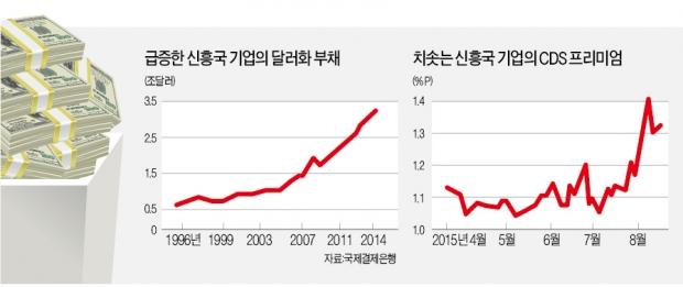 [신흥국 위기설 확산] 신흥국 기업 짖누르는 달러 빚…통화가치 급락으로 상환 '허덕'