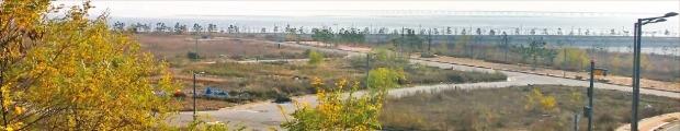 LH(한국토지주택공사)가 2003년 인천 영종하늘도시 조성 이후 처음으로 공급에 나선 영종도 남측 해안가 단독주택용지 전경. LH 제공