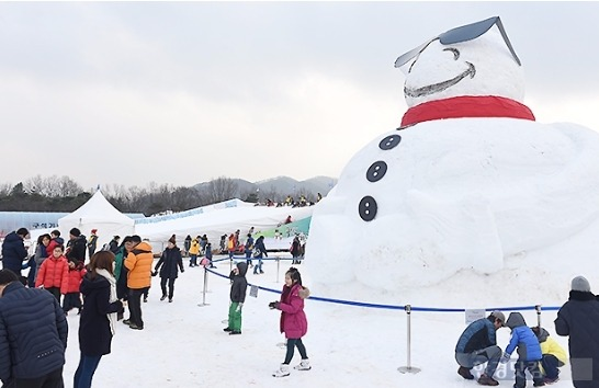 [영상] 추위 없는 겨울? 겨울축제 위기! '연천 구석기 축제'는 성황!