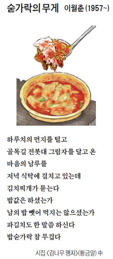 [이 아침의 시] 숟가락의 무게 - 이월춘 (1957~)