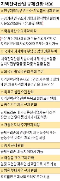[규제 확 푸는 지역전략산업] 제주·부산 관광단지에 고급빌라…광주·울산엔 자동차 특목고 허용