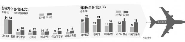 5개 LCC 덩치, 아시아나만큼 커졌다