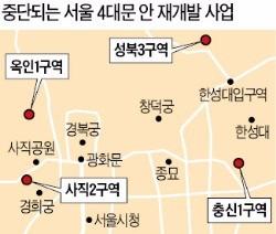 서울 4대문 안 주택 재개발 전면 백지화