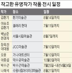 김환기·천경자·오윤…여름 화단 '별들의 전쟁'