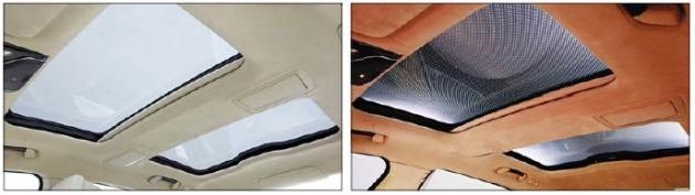 색깔이 바뀌는 BMW 7시리즈의 스카이라운지 파노라마 글라스 루프.