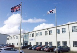 씨에스윈드UK의 영국 공장 전경.