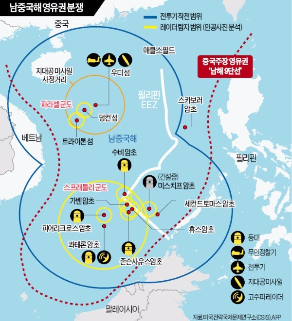 """시진핑 """"남중국해, 여전히 중국 영토""""…미국 """"판결에 승복하라"""""""