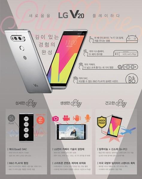 'LG V20' 베일 벗는다…7일 서울· 샌프란시스코 동시 공개
