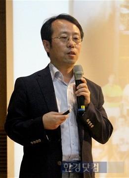 세종대를 찾아 강연하는 김병진 쎄트렉아이 대표. / 세종대 제공
