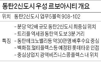 동탄2신도시 중심 '우성 르보아시티'오피스텔 분양