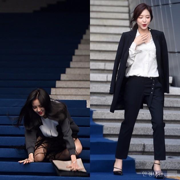헤라 서울 패션위크 s/s 2017 '제인 송' 손나은 /사진=변성현, 최혁 기자