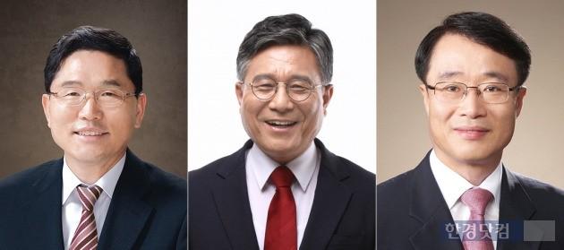 전남대 총장임용 예비후보자 (왼쪽부터) 정성창·허민·정병석 교수.