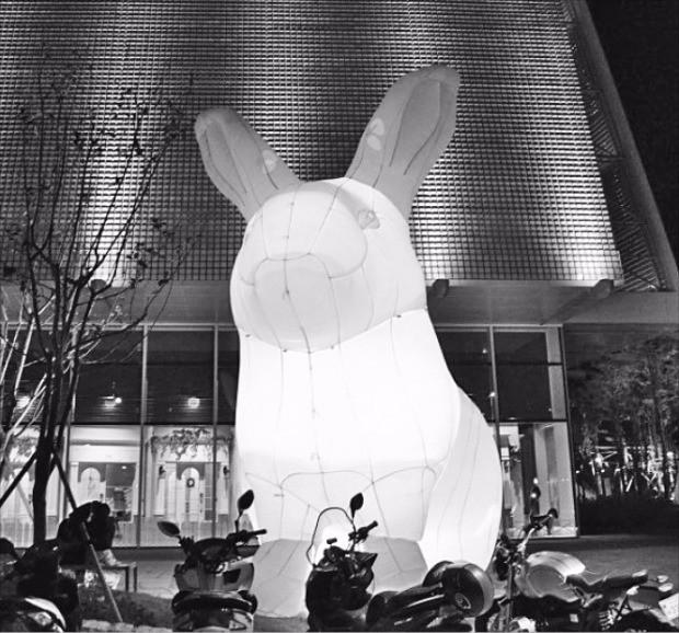 신세계그룹이 지난 9월 개장한 스타필드 하남에 공공미술 '자이언트 래빗'을 설치했다.