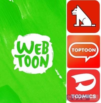 작가 섭외 및 발굴 경쟁을 벌이고 있는 국내 웹툰 플랫폼들.