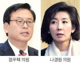 새누리당 16일 원내대표 경선…친박 정우택 vs 비박 나경원 '사활 건 승부'
