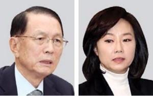 김기춘(왼쪽), 조윤선