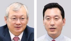 정영채 대표(왼쪽) 김성환 부사장