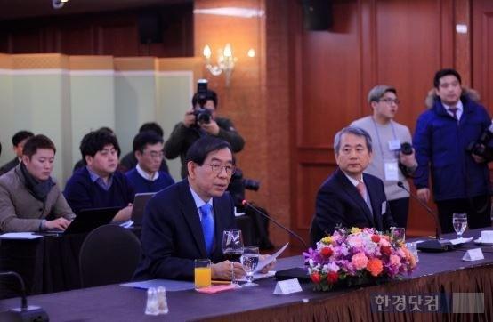 사진=박원순 서울 시장과 신구 세종대 총장