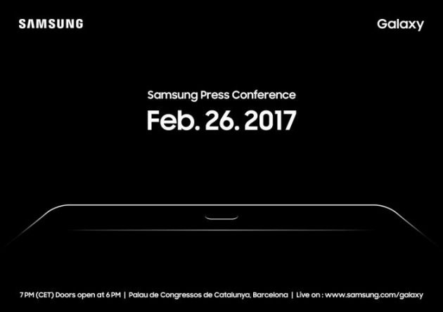 삼성전자는 이달 26일 스페인에서 열리는 MWC(모바일월드콩그레스)에서 신제품 태블릿 PC 갤럭시탭S3를 공개한다. 사진은 '갤럭시탭S3' 행사 초대장.