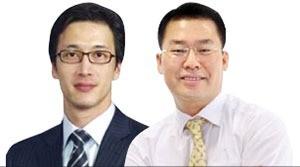 최동석 골드만삭스 대표(왼쪽), 임정강 이스트브릿지 회장