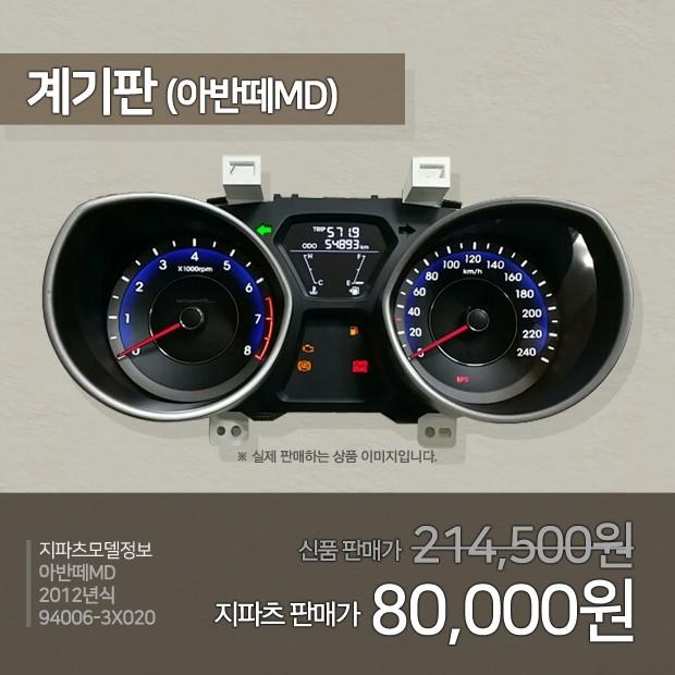 [카드뉴스] 중고부품 가격정보 – 아반떼MD
