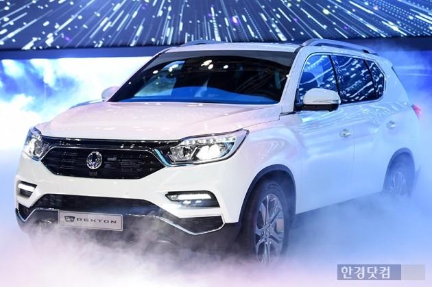 [포토] 쌍용자동차, '대형 SUV G4 렉스턴 공개'