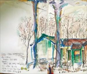 작가 프리실라가 톈닝사를 그린 작품.