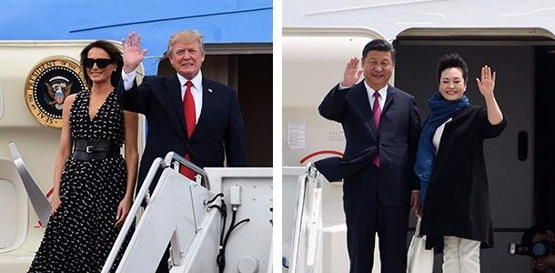 미중 역사적 정상회담 시작됐다 … 트럼프 대통령 · 시진핑 주석 플로리다주 팜비치 도착