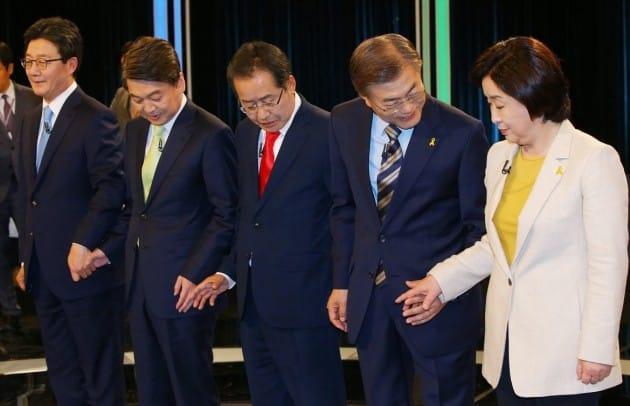 [대선후보 오늘의 일정] 8시 대선전 마지막 TV토론회 /  안철수 '우리 청년이 멘토다' 등