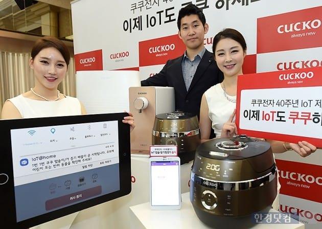 [포토] '쿠쿠전자' 밥솥-공기청정기-정수기 IoT 제품 출시