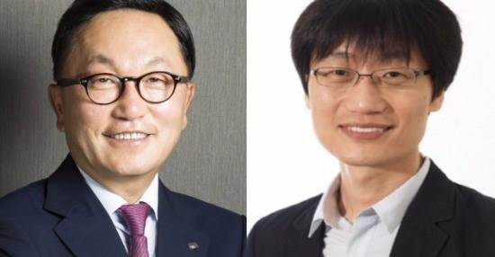 왼쪽부터 박현주 미래에셋그룹 회장, 이해진 전 네이버 이사회 의장.