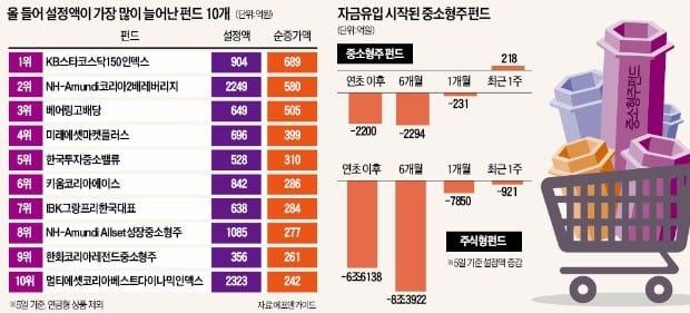 펀드 환매 러시에도…중소형주펀드엔 '뭉칫돈'