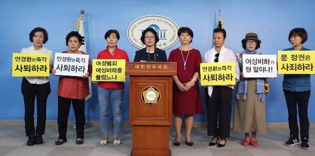 """한국당 """"안경환, 후보직 사퇴하고 여성들에 사죄해야"""""""