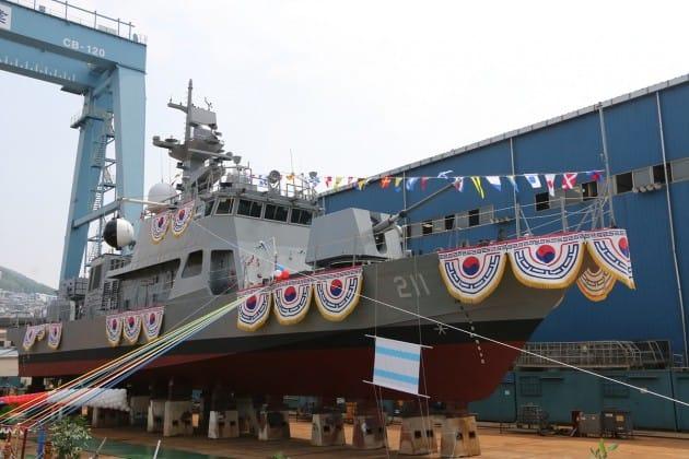 한진중공업 해군 함정 9척 3500억원 규모 수주 쾌거