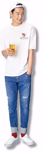 에잇세컨즈 새우깡 티셔츠