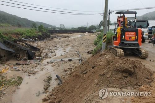 천안 폭우 피해액 216억…특별재난지역 선포로 복구 탄력