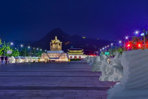 크라운·해태제과, 광화문에서 '눈 축제' 연다
